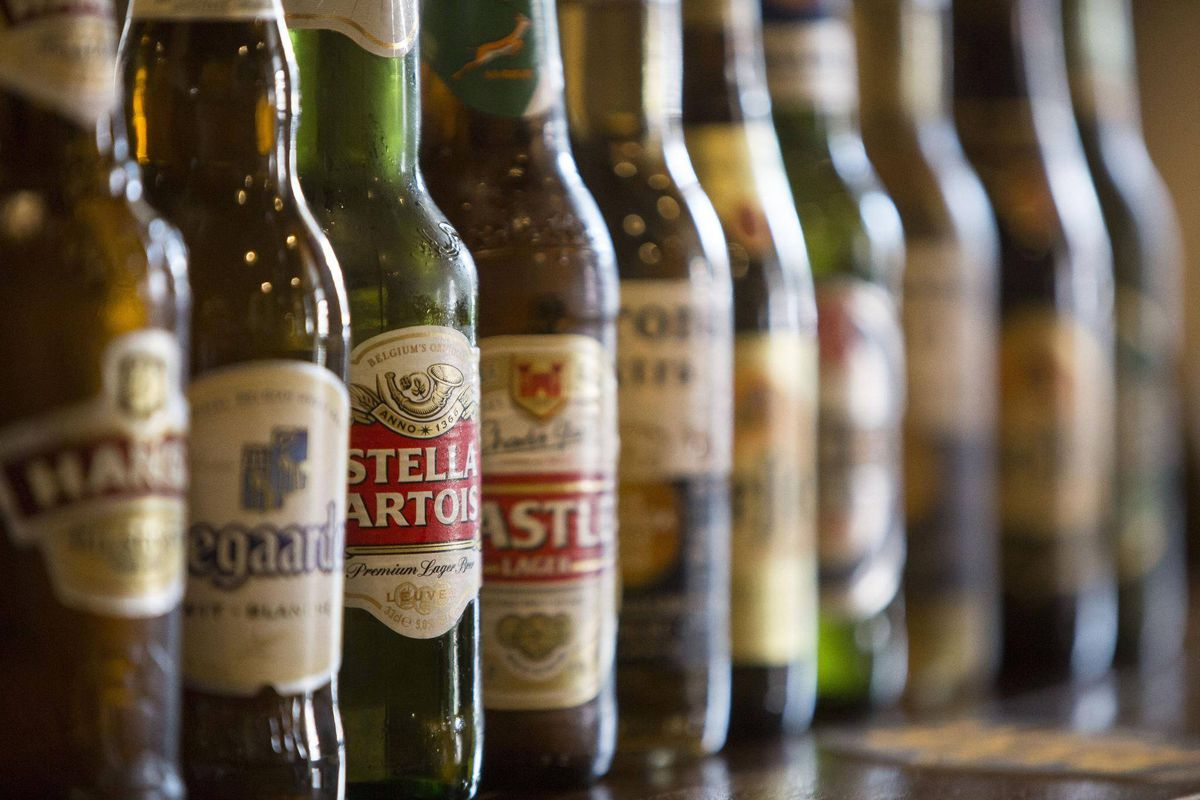 Beer bottles from ABInbev, which is using data to improve employee experience