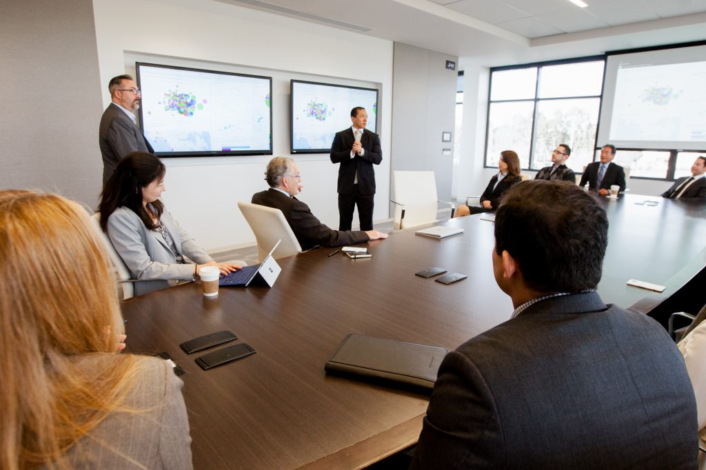 Large conference room meeting