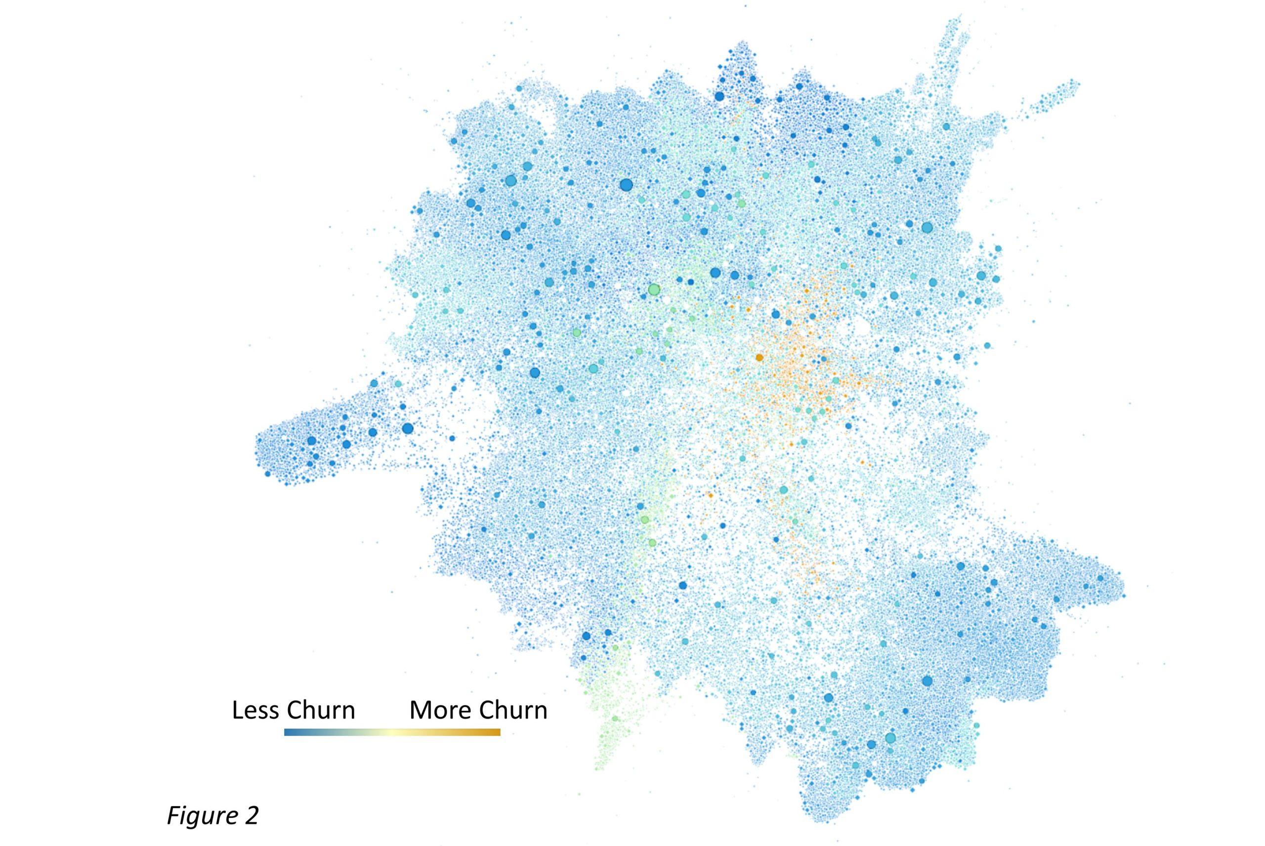 Organizational network analysis visualization