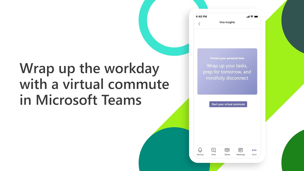 video thumbnail for 'Mindfully wrap up the workday with a virtual commute'
